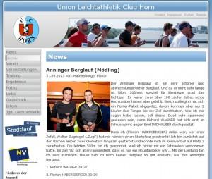Laufbericht von Florian HABERSBERGER vom ULC Horn
